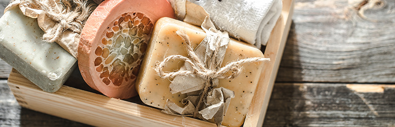Jabones naturales y aceites esenciales