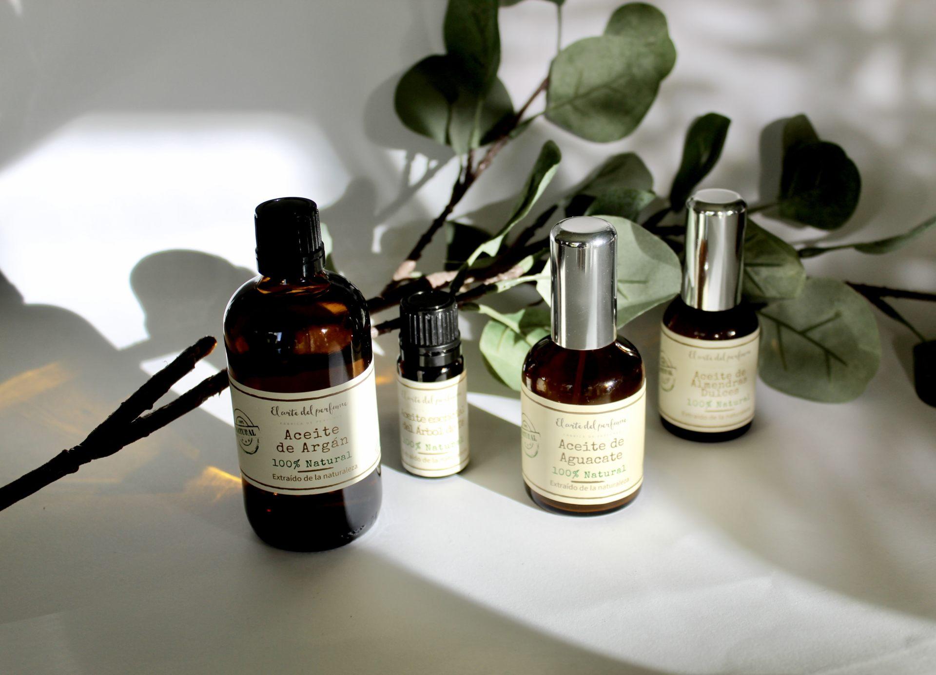 Aceites cosméticos naturales